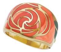 54065: Multi-Stone, Gold Bracelet, Angela Cummings for