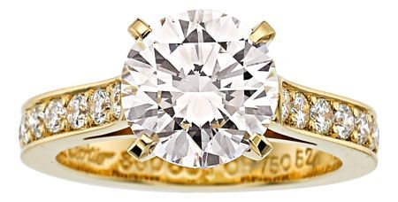 54268: Diamond, Gold Ring, Cartier  The ring features a