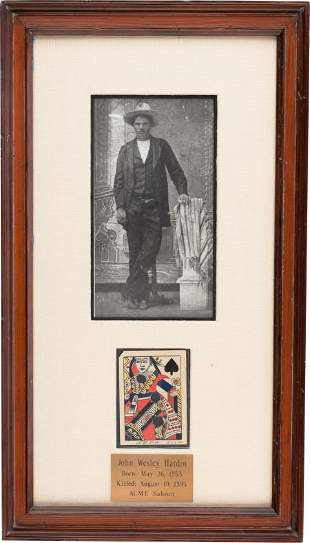 51075: John Wesley Hardin: An Iconic Shot-through and S