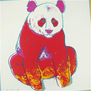 69003: Andy Warhol (1928-1987) Endangered Species, 1983