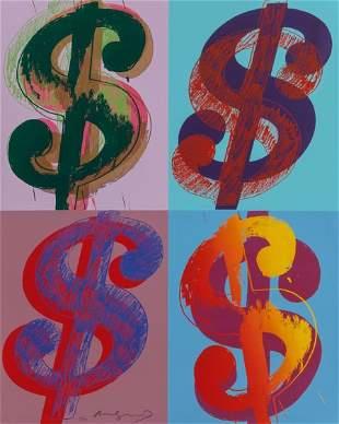 69004: Andy Warhol (1928-1987) $ (Quadrant), 1982 Uniqu