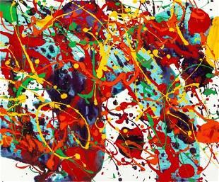 69025: Sam Francis (1923-1994) Untitled, 1994 Acrylic o
