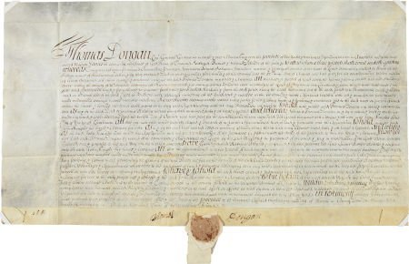 49001: [Founding of Yorktown]. Governor Thomas Dongan S