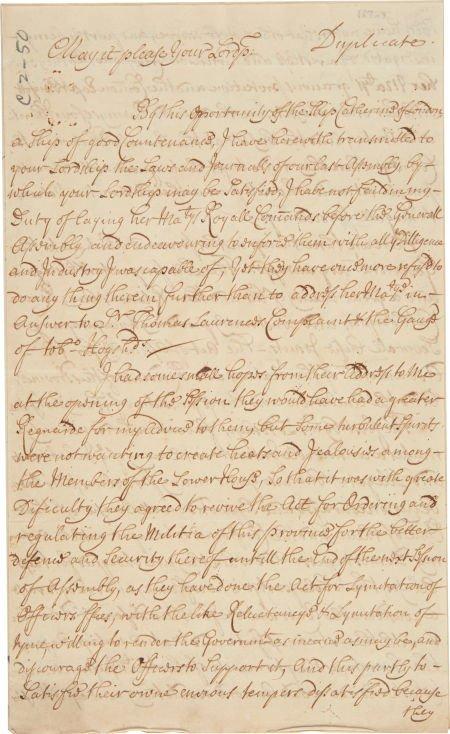 49005: [Penn vs. Baltimore Dispute] and [Slavery]. Lett