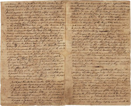 49011: [Treaty of Lancaster]. Autograph Letter from Mar