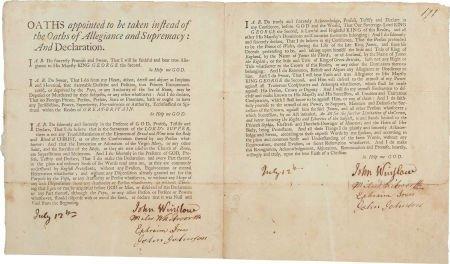 49012: [Expulsion of the Acadians]. John Winslow Signed