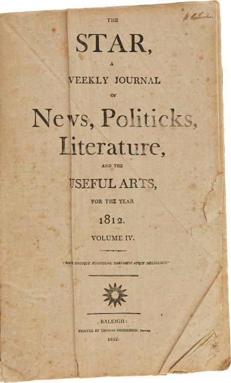 49014: The Star, Volume IV, Bound.  Printed by Thomas H