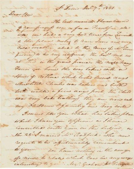 "49015: William Clark Autograph Letter Signed ""Wm Clark."