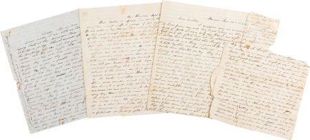 49024: [1849 California Gold Rush]. Group of Three Lett