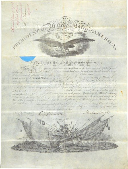 Abraham Lincoln Surgeon's Military Appointment S