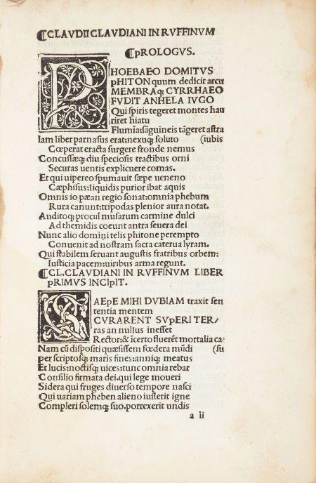 [Thaddaeus Ugoletus, editor] Claudius Claudianus