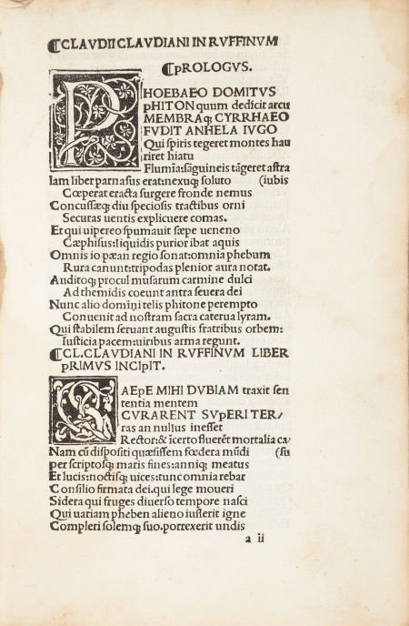45454: [Thaddaeus Ugoletus, editor] Claudius Claudianus