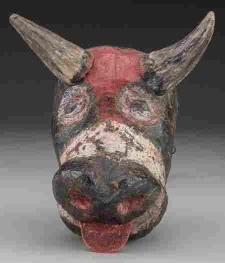Bull (Toro) Mask, Mexican or Guatemalan 20th c.