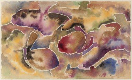 76039: Bror Utter (American, 1913-1993) Lavender Abstra