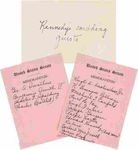 John F. & Jacqueline Bouvier Kennedy: Their Orig