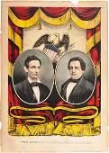 48062: Lincoln & Hamlin: Jugate Currier & Ives Print. 1