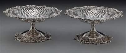 75194 A Pair of Graff Washbourne  Dunn Silver Reticu