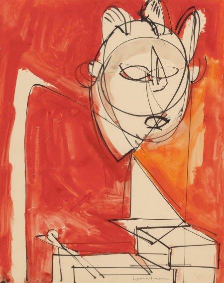 70019: Hans Hofmann (American, 1880-1966) Untitled, 194