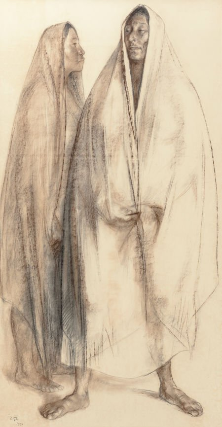 70023: Francisco Zúñiga (Mexican, 1912-1998) Two Figure