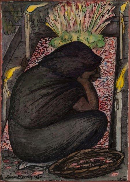70025: Diego Rivera (Mexican, 1886-1957) Velorio, 1928