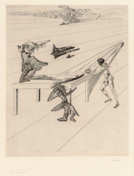 70205: Salvador Dalí (Spanish, 1904-1989) L'enfant saut