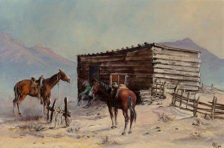 Buck McCain (American, b. 1943) Base Camp Oil on