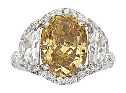 54295: Fancy Deep Brown-Yellow Diamond, Diamond, Platin