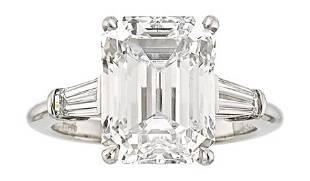 54373: Diamond, Platinum Ring, Tiffany & Co. The ring