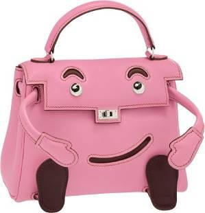 58004: Hermes Limited Edition 5P Bubblegum Pink Swift L
