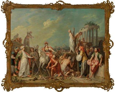 66036: Jacopo Amigoni (Italian, 1682-1752) Clorinda Res