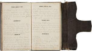 47442 Union Soldiers 1862 Diary Written By Lt Alonzo