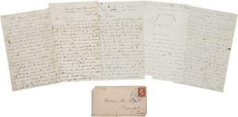 47446 Civil War Union Soldiers Group of Four Letters
