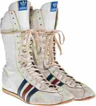 """89030: A Pair of Boxing Shoes from """"Rocky IV."""" MGM/UA,"""