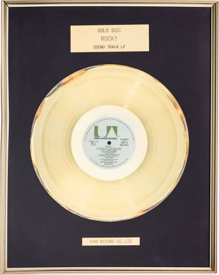 """89174: A Gold-Plated Disc from the Soundtrack to """"Rocky"""