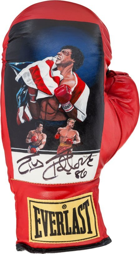 """89197: A Signed Commemorative Boxing Glove Related to """""""
