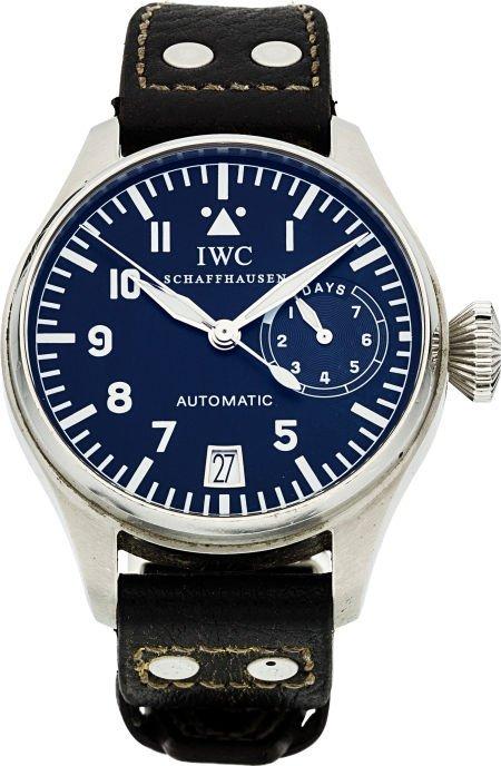 89450: IWC Big Pilot Steel Wristwatch With 7-Day Power