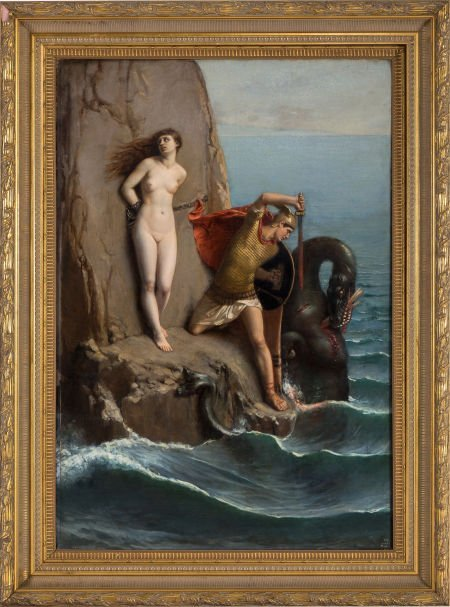 89493: Louis Matout (French, 1811-1888) Perseus and And