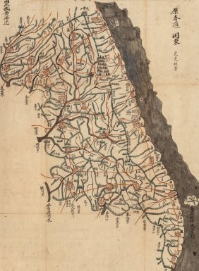 Japanese School (20th Century) Kanto Region Map