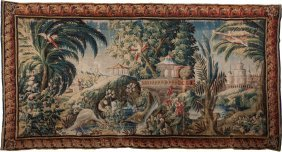 A Large Flemish Baroque-style Figural Tapestry,