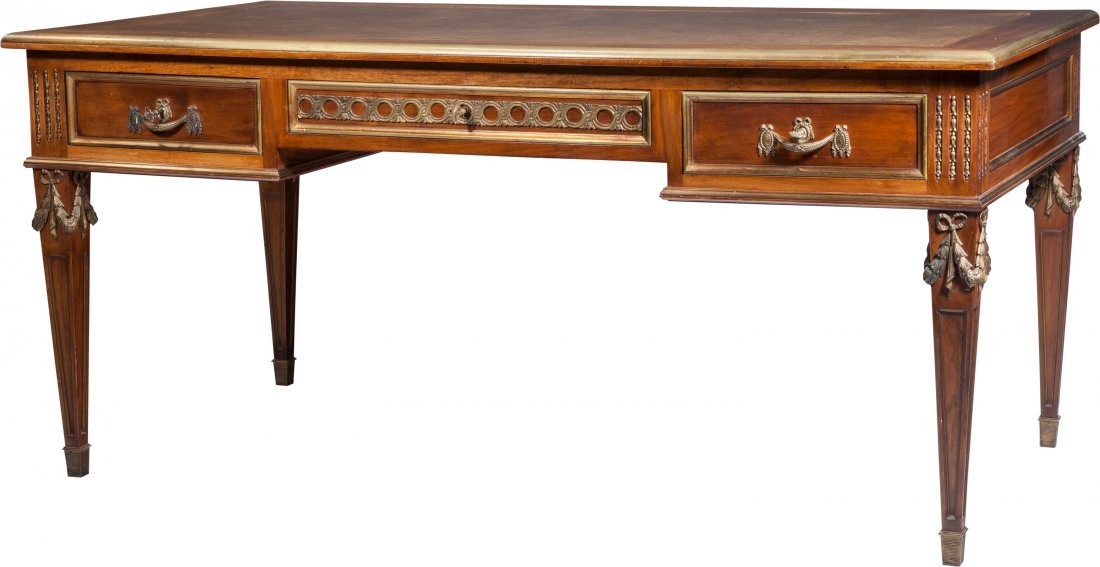 65103: A French Empire-Style Mahogany Bureau Plat with