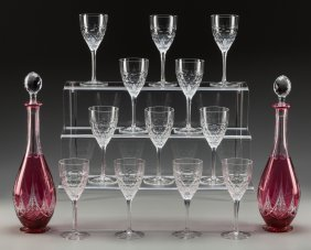 Twelve William Yeoward Crystal Wine Goblets And