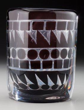 An Ingeborg Lundin Glass Ariel Vase For Orrefors
