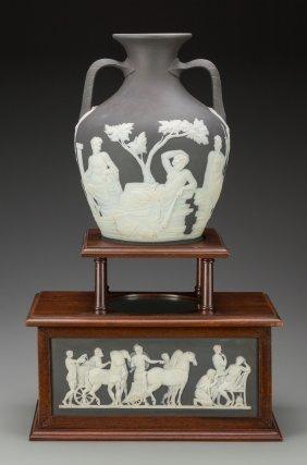A Fine Wedgwood Black Jasperware Portland Vase O
