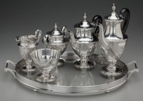 A Five-piece Tiffany & Co. Silver Tea And Coffee