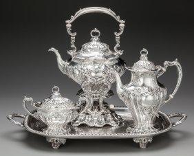 A Three Piece Gorham Chantilly Pattern Silver Te