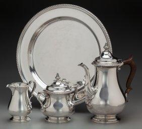 A Four Piece Gorham Silver Coffee Set, Providenc