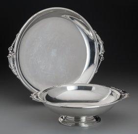 A J. Wagner & Son Jensen-style Silver Platter An