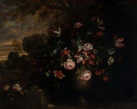 Manner Of Jean-baptiste Monnoyer Floral Still L