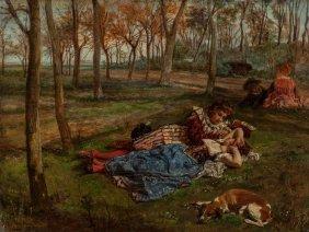 Scipione Vannutelli (italian, 1834-1894) Love In