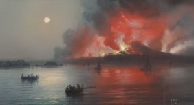 Gioacchino La Pira (italian, 1839-1870) Bay Of N